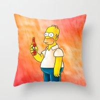 Homer & Duff Throw Pillow