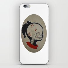 Girl Next Door = Silhouette and Anatomy Love Painting iPhone & iPod Skin