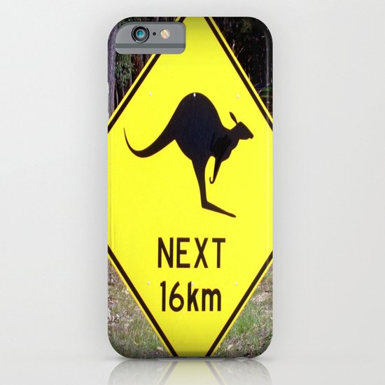 Kangaroo road Sign iPhone & iPod Case