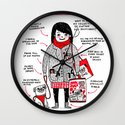 Anatomy of the Pug Owner Wall Clock