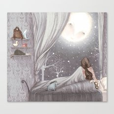 Sophie and the Moon Canvas Print