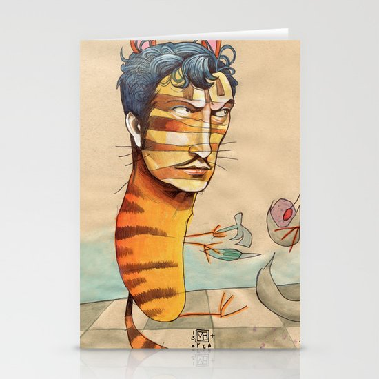 EASY, TIGER Stationery Card