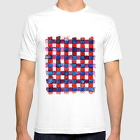 Let's Plaid Mens Fitted Tee White SMALL