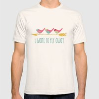 Fly Away Mens Fitted Tee Natural SMALL
