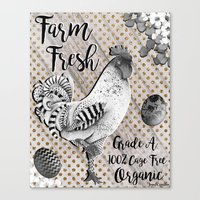 Farm Fresh Farmhouse Chic Canvas Print