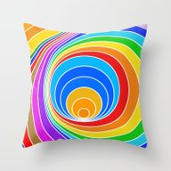 Spiral Couleur 6 Throw Pillow
