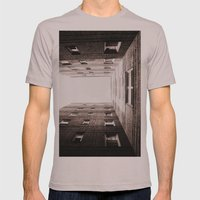 New York City Brown Brick Apartment Building, NYC Urban Queens Mens Fitted Tee Cinder SMALL