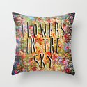 Flowers in the Sky Throw Pillow