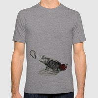 Love Bird Broken Mens Fitted Tee Athletic Grey SMALL