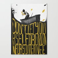 Just Don't - I Canvas Print