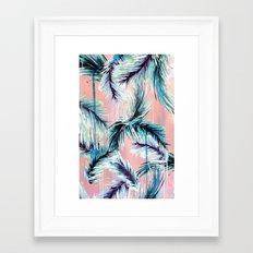 Pink Tropical Haze Framed Art Print