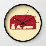 Elephanticus Roomious Wall Clock