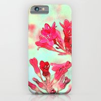 iPhone & iPod Case featuring summer pink flowers. botanical art.  floral photo art. by NatureMatters