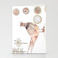 Decorative pheasant Stationery Cards