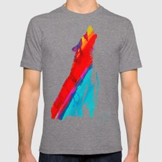 African Sunset Mens Fitted Tee Tri-Grey SMALL