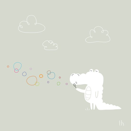 The Happy Bubbles Art Print