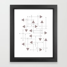 Lines & Arrows Framed Art Print