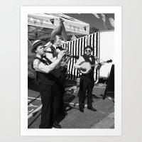 Bunting And Bands, Black… Art Print