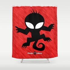 CHUPACABRAS - Red Edition Shower Curtain