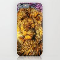 iPhone Cases featuring King of the jungle by thekingweaver