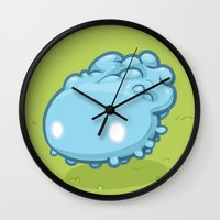 Marshmallow Blob Wall Clock
