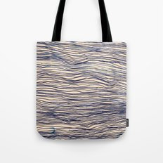 Writer's Block - wavy indigo / navy lines Tote Bag