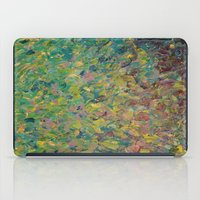 FIELDS OF BLUE - WOW Modern Abstract Shades of Blue and Green in Nature Theme Grass Waves iPad Case