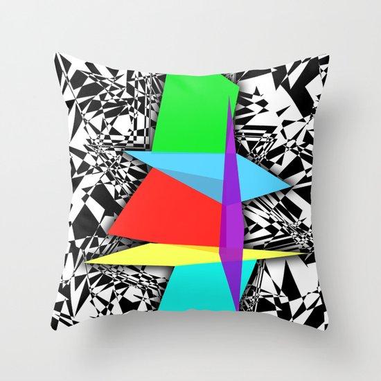 Color Sculpture Throw Pillow