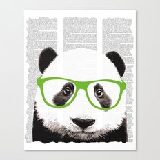 Panda with glasses Canvas Print