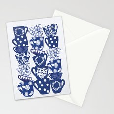blue teacups Stationery Cards