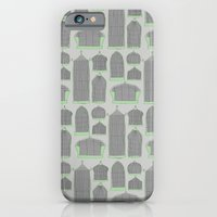 iPhone & iPod Case featuring Birdcages (Gray) by Sarah Liddell