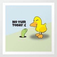 No Yum Today Art Print