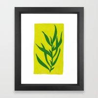 Leaf Shadow Framed Art Print