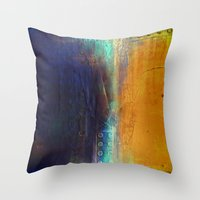 Navy And Gold Throw Pillow