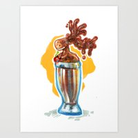 Chocolate Mousse Art Print