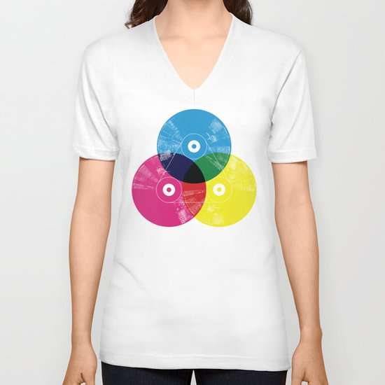 Music is the colors of life V-neck T-shirt