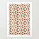 Colorful Circles III Art Print