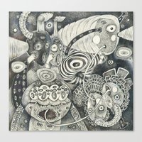 Umbilical Chords Canvas Print