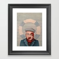 Crab Beard Framed Art Print