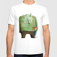 Dear Troll Mens Fitted Tee White SMALL