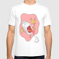 Milk n' Cookies  Mens Fitted Tee White SMALL