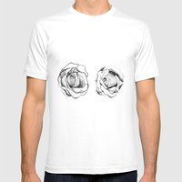 Two Roses For My Friends Mens Fitted Tee White SMALL