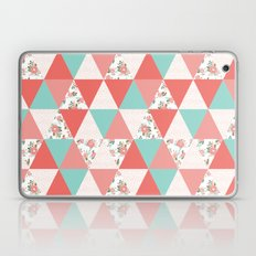 Triangle quilt pattern cute florals dots cheater quilt blanket quilter must have cute baby shower  Laptop & iPad Skin