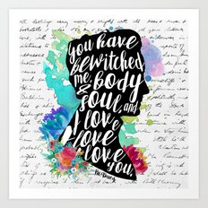 Mr.Darcy - I Love You Art Print