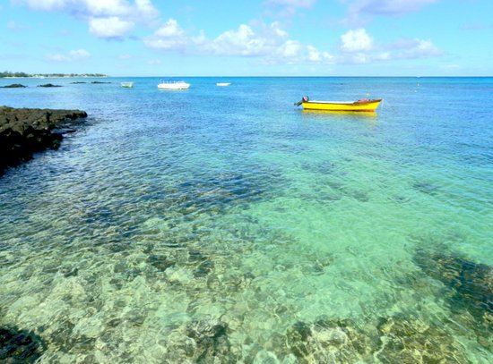 Exotic Blue Lagoon Indian Ocean Coral Reef Seascape Art Print