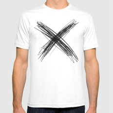 XS Mens Fitted Tee SMALL White