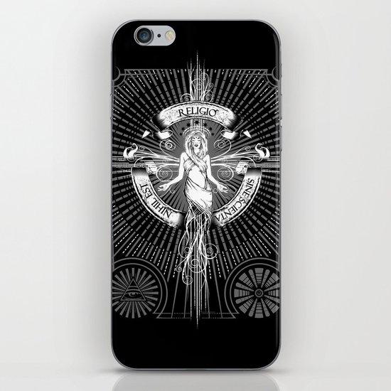 Religio Sine Scienta Nihil Est iPhone & iPod Skin
