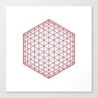 #184 Sphere/cube – Geo… Canvas Print