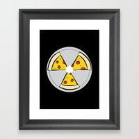 PIZZAHAZARD Framed Art Print