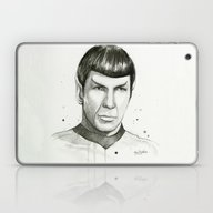 Spock Watercolor Portrai… Laptop & iPad Skin